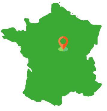 Localisation de la Forêt de Luthenay